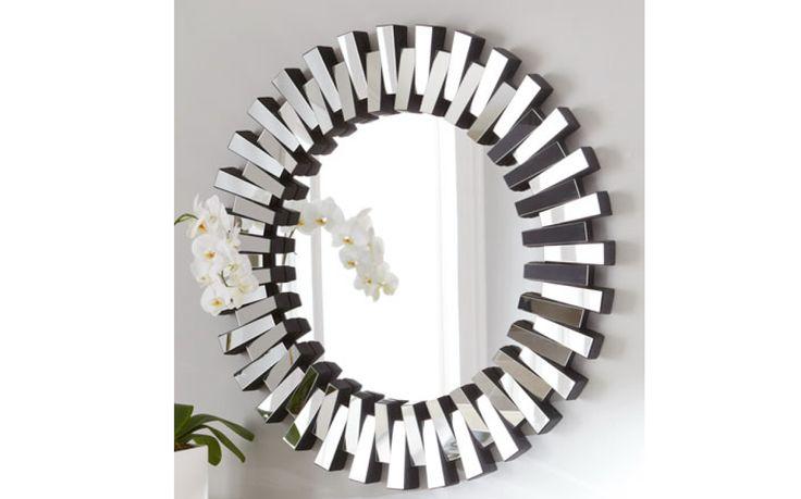 Round Cog Style Mirror