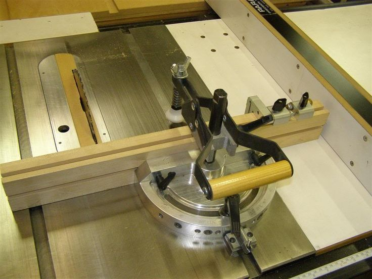 Sliding Miter Gauge by Harvey Melvin Richards -- Homemade sliding miter gauge for a table saw. Incorporates a wooden fence, a hold down clamp, and stop clamps. http://www.homemadetools.net/homemade-sliding-miter-gauge