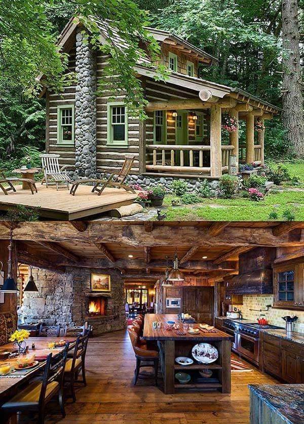 Fantastic And Dreamy Log Cabin Home Decor Ideas That Will Lead You To Dreams World Rustic House Log Cabin Homes Small Log Cabin