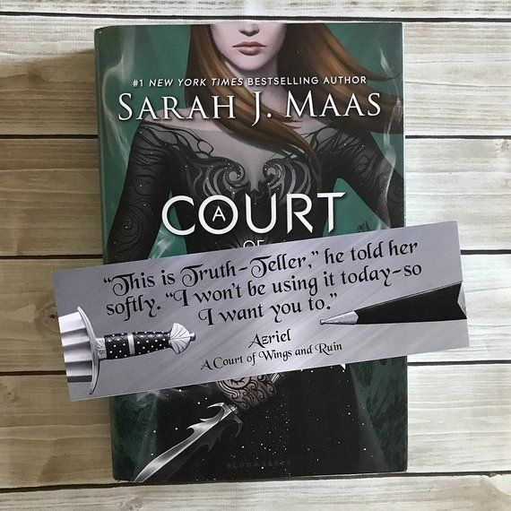 Azriel A Court Of Thorns And Roses Bookmark Acotar Bookmark