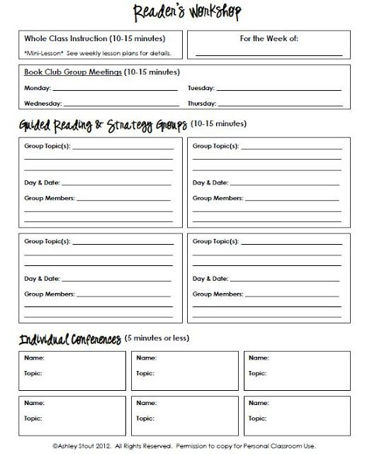 writing workshop lesson plan template - best 25 guided reading template ideas on pinterest
