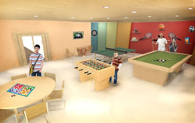 Recycled Materials Village Game Room Final Render - Click for Page, http://www.onecommunityglobal.org/recycled-materials-village/