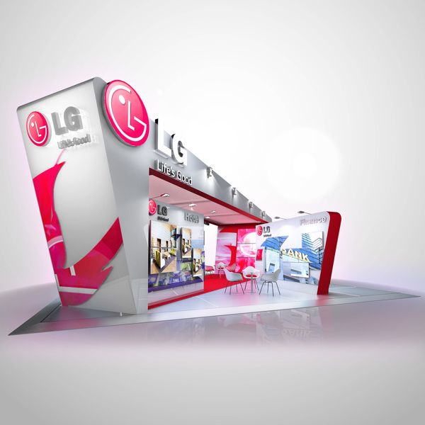 LG exhibition stand concept by BOBA