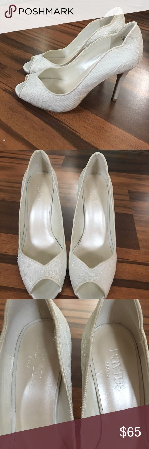 David's Bridal wedding shoes! Brand new, never worn. Size 7.5M. Ivory. David's Bridal Shoes Heels