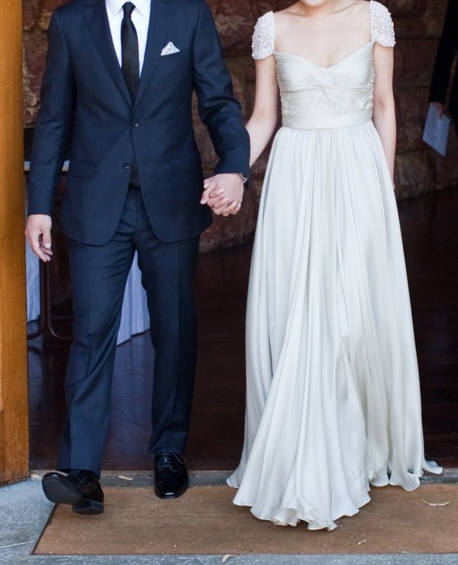 Olivia Reem Acra & Blue Navy Groom's suit