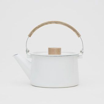 Kaico Enamel Kettle - contemporary - coffee makers and tea kettles - - by ReForm School