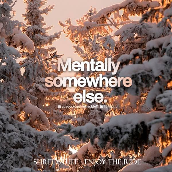 Once November hits my mind is elsewhere.... usually on the top of a hill with skis on :)