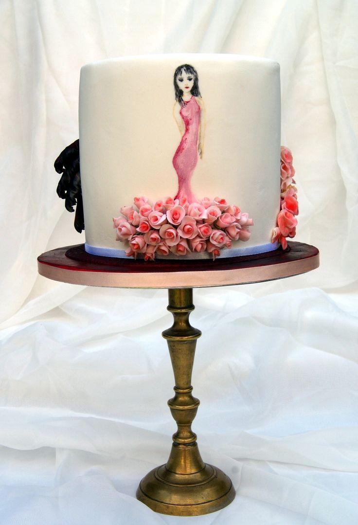 Flowery Dresses Birthday Cake