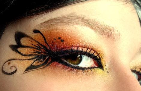 """Maquillaje de ojos """"Mariposa"""": Make Up, Eye Makeup, Butterflies, Eyemakeup, Beauty, Makeup Idea, Halloween, Eyes"""