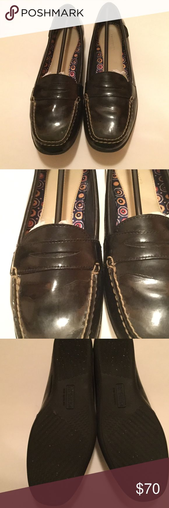 Black Patent Leather Sperry Loafers NWOT Perfect for the office, I'm pretty sure these have never been worn, no wear on bottom and no imperfections. Open to reasonable offers! Sperry Top-Sider Shoes Flats & Loafers