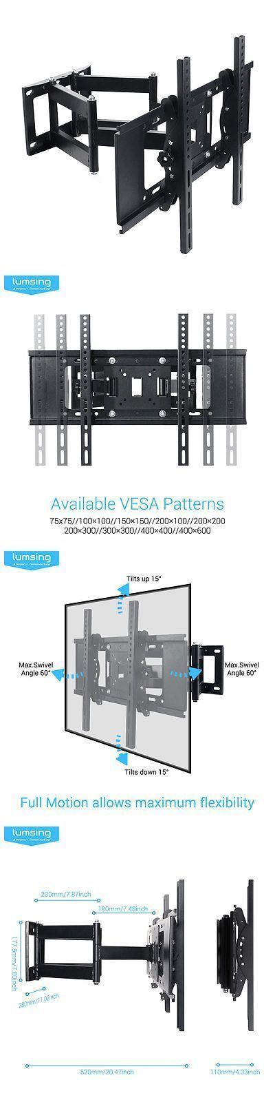 TV Mounts and Brackets: Full Motion Tv Wall Mount 32 39 40 42 50 55 60 65 70 For Samsung Vizio Lg Sony -> BUY IT NOW ONLY: $40.99 on eBay!
