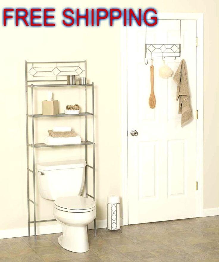Bath 3-Piece Set Organizer Space Saver Door Hook Toilet Paper Holder Bathroom #ZPCZenithProductsCorporation