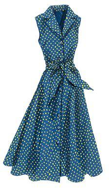 Vintage Sleeveless Dress for Women - Sleeveless Flirty 1947 Dress | The J. Peterman Company