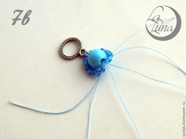 Плетение La Luna: оплетаем бусины бисером - Ярмарка Мастеров - ручная работа, handmade