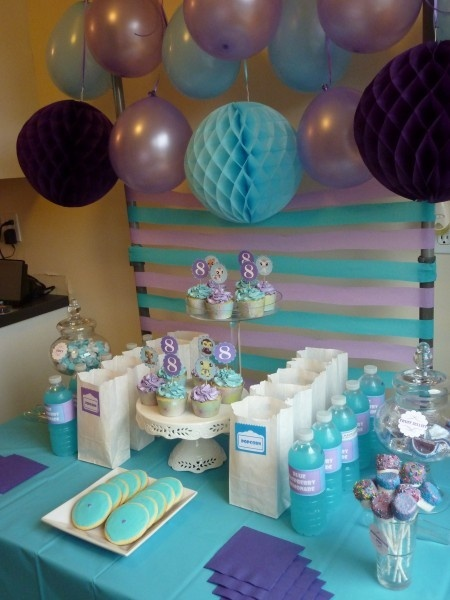 Purple Blue Party Baby Shower 2 Damask Purple Butterflies