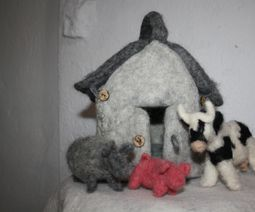 Felted animal house