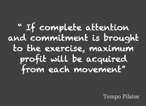 complete attention and commitment