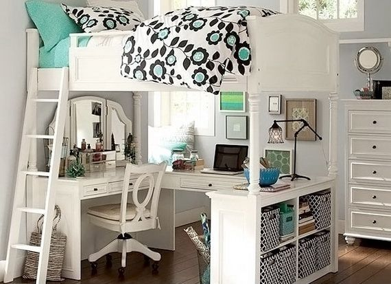 Stylish Two Story under lofted dorm beds
