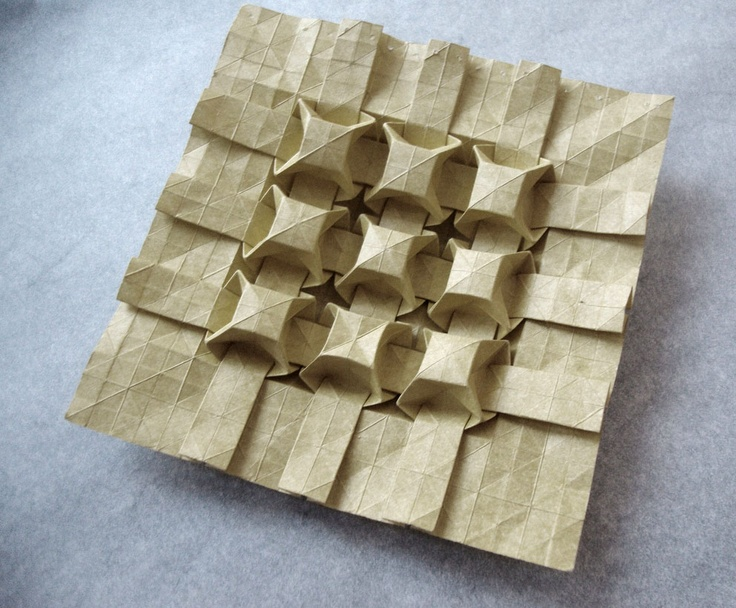 Andrea Russo origami tessellation 3D cubes