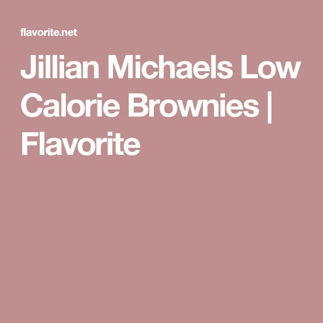 1000+ ideas about Low Calorie Brownies on Pinterest ...