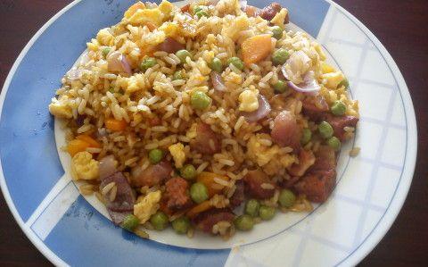 Sült rizs recept fotóval