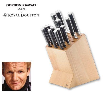 Gordon Ramsay MAZE by Royal Doulton 14 Piece Kitchen Knife Block Set