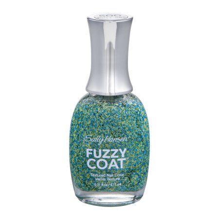 Sally Hansen Fuzzy Coat Textured Nail Color 500 Fuzz-Sea, 0.31 FL OZ, Blue