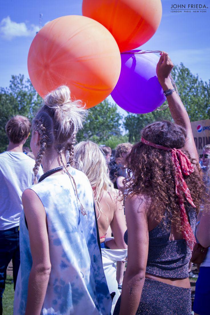 Festival banadana, Party, Balloons, Festivallook, festival outfit, krullen, haarband, bandana,