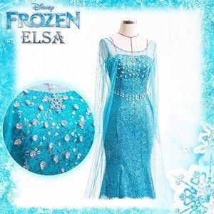 Frozen Elsa Dress Cosplay Frozen Costume Adult Elsa Costumes for Women Cosplay