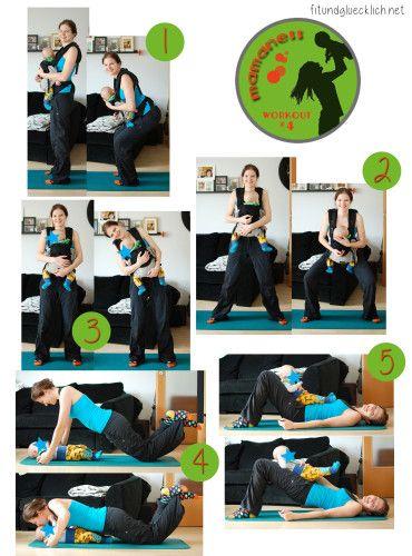 Mamaness Workout 4 fitundgluecklich.net, fitness, workout, mama, mamaness, fit mom, Workout mit Baby