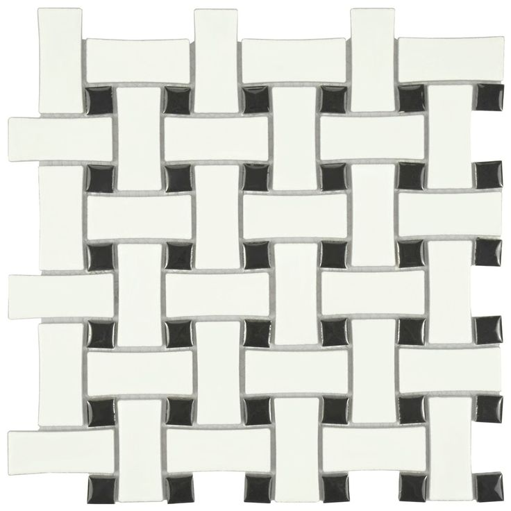 Top Product Reviews for SomerTile 10.5x10.5-inch Victorian Basket Weave Black and White Porcelain Mosaic Floor and Wall Tile - Overstock.com - Mobile