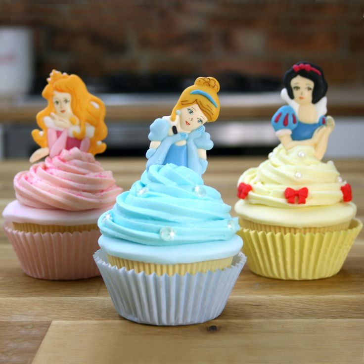 Disney Princess Cupcake Tutorial Cinderella, Snow White ...