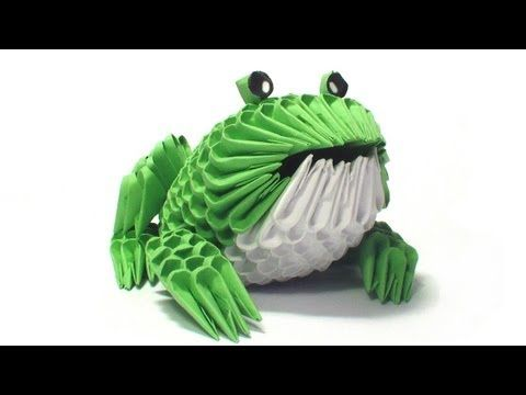 ▶ 3D origami frog tutorial - YouTube
