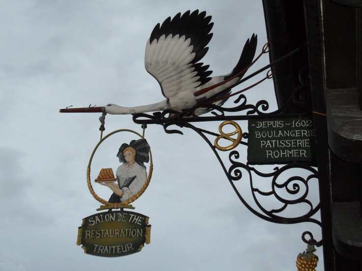 Enseigne de la Boulangerie Rohmer – Rosheim, Bas-Rhin (France) - Elle est la plus ancienne Boulangerie de France, datant de 1602.