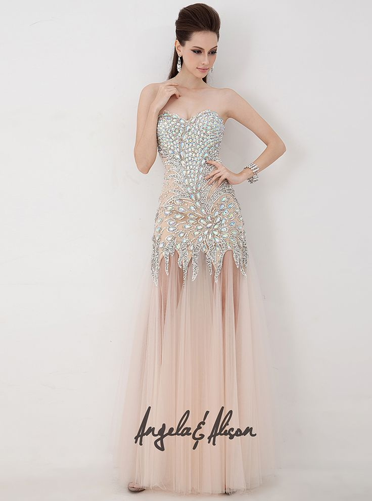 Style 41001 Sweetheart neckline beaded bodice and tulle skirt. Prom, Homecoming, Gala, Wedding, Formal, Graduation, Ball... etc.