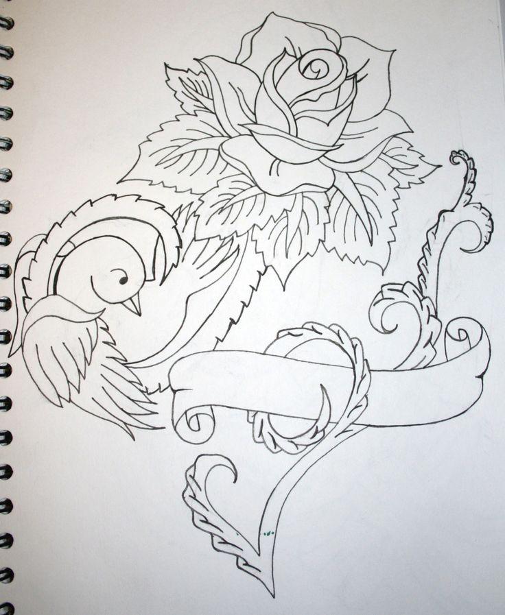 bird and roses tattoo design tattoo ideas pinterest birds tattoo designs and design. Black Bedroom Furniture Sets. Home Design Ideas