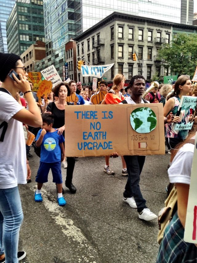 Nyc Peoples Climate March Climate Change Quotes Climate Change Poster Protest Posters