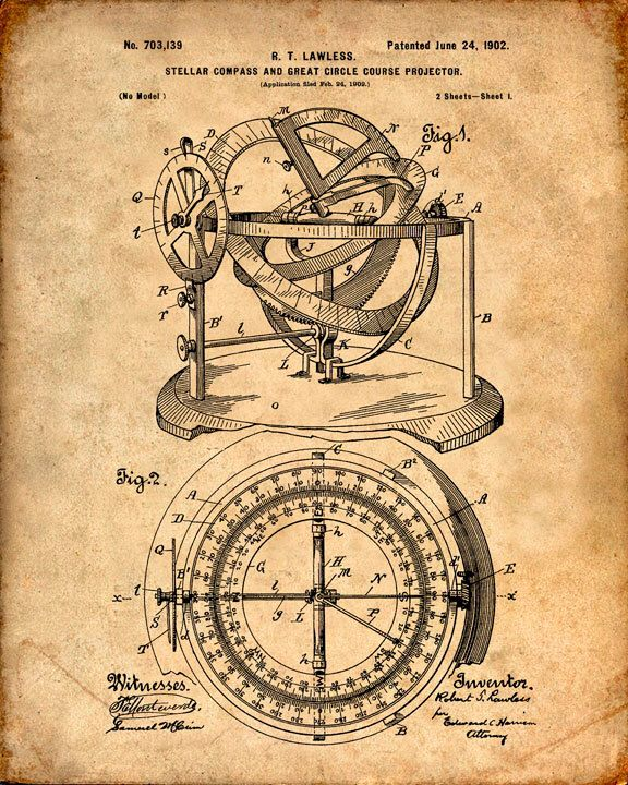 Nautical Compass Patent Print From 1902 - Compass - Patent Art Print - Patent Poster - Nautical Steering - Boating - Sailing Navigation door VisualDesign op Etsy https://www.etsy.com/nl/listing/223356130/nautical-compass-patent-print-from-1902