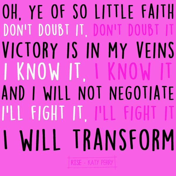 Rise - Katy Perry Lyric Art