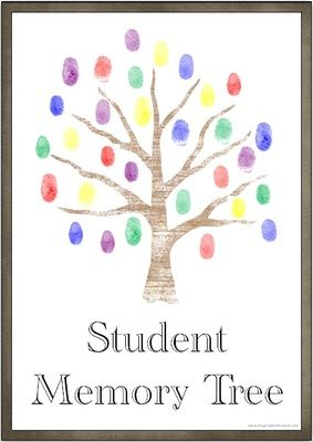 FREE Student Memory Tree from Imaginative Teacher on TeachersNotebook.com -  (9 pages)  - Use the included templates to create wonderful memory trees for your students. You may choose to create one per child with handprints or perhaps a whole class tree using student fingerprints.  If creating a fingerprint tree you could even write student na