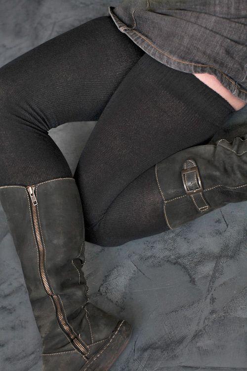 how to keep thigh high socks up