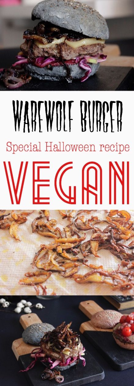 Werewolf VEGAN burger. Special Halloween recipe!! -ReinasyRepollos-