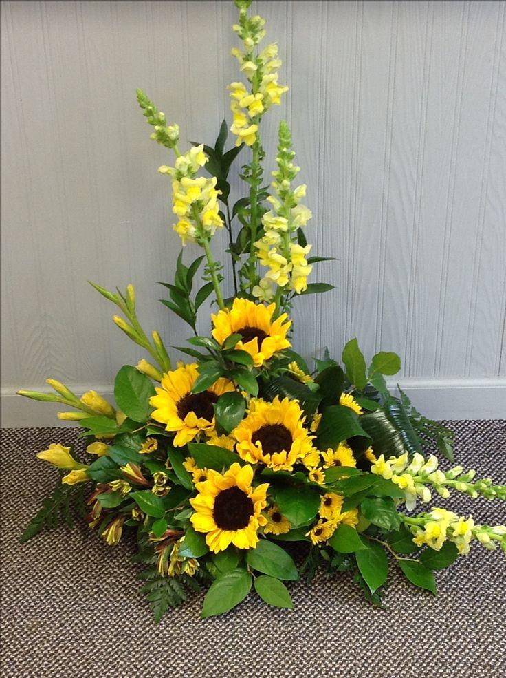 Sunflower Arrangements For Funeral : Best images about funeral arrangements on pinterest
