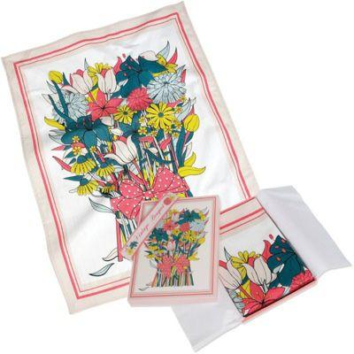 Vintage Bouquet Tea Towel Gift
