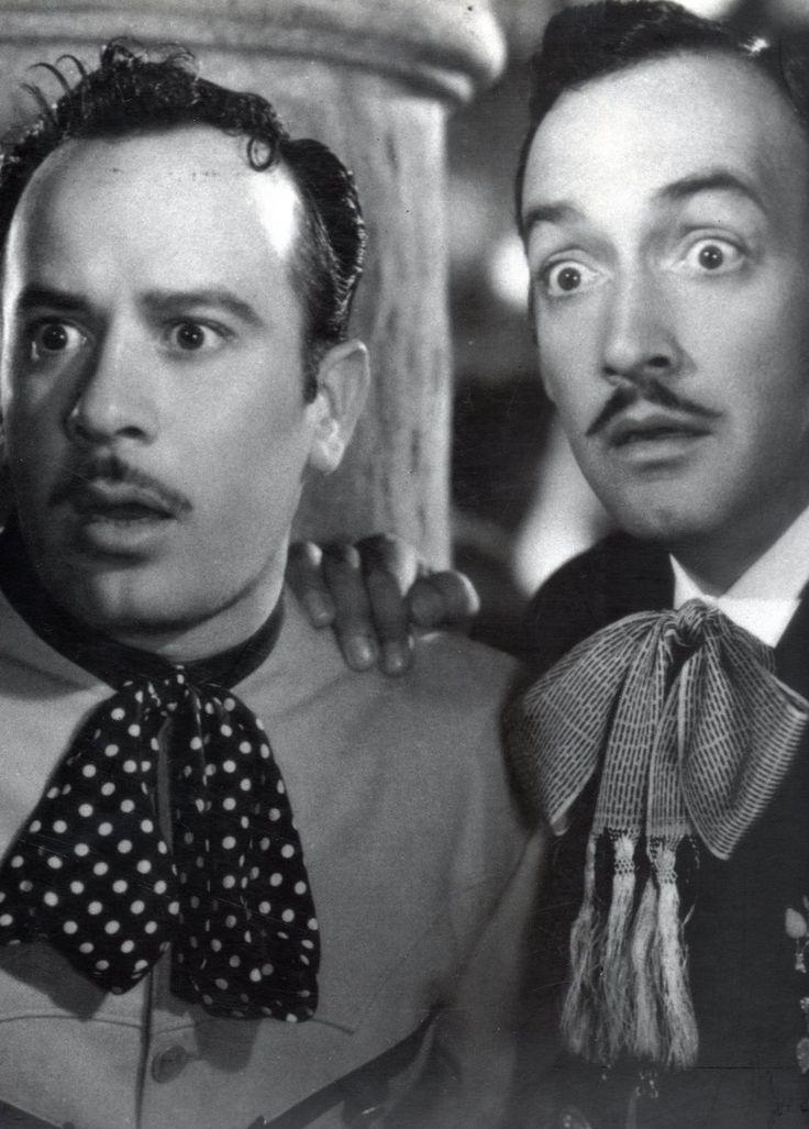 """Pedro Infante y Jorge Negrete. Película """"Dos Tipos de Cuidado"""""""