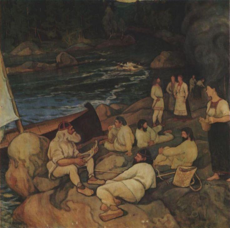 Pekka Halonen, Väinämöisen soitto, 1897, The Life and Art of Pekka Halonen - http://www.alternativefinland.com/art-pekka-halonen/