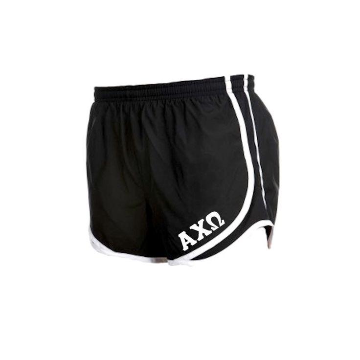 Alpha Chi Omega Shorts . Liner . White Letters