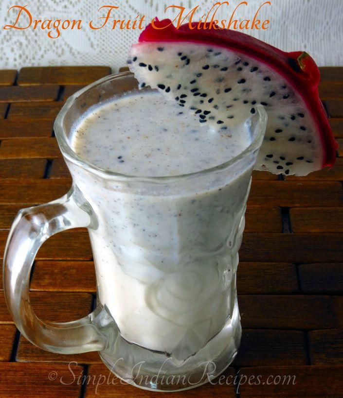 Dragon Fruit Milkshake:  A refreshing milkshake made with pitaya (dragon) fruits that can be enjoyed as a substitute for regular milk any day. Try the recipe @ http://simpleindianrecipes.com/Home/Dragon-Fruit-Milkshake.aspx