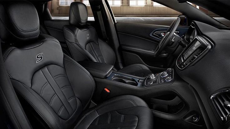 Chrysler 200 Mpg >> The Leather Group, available on the All-New 2015 Chrysler 200S, includes black sport leather ...