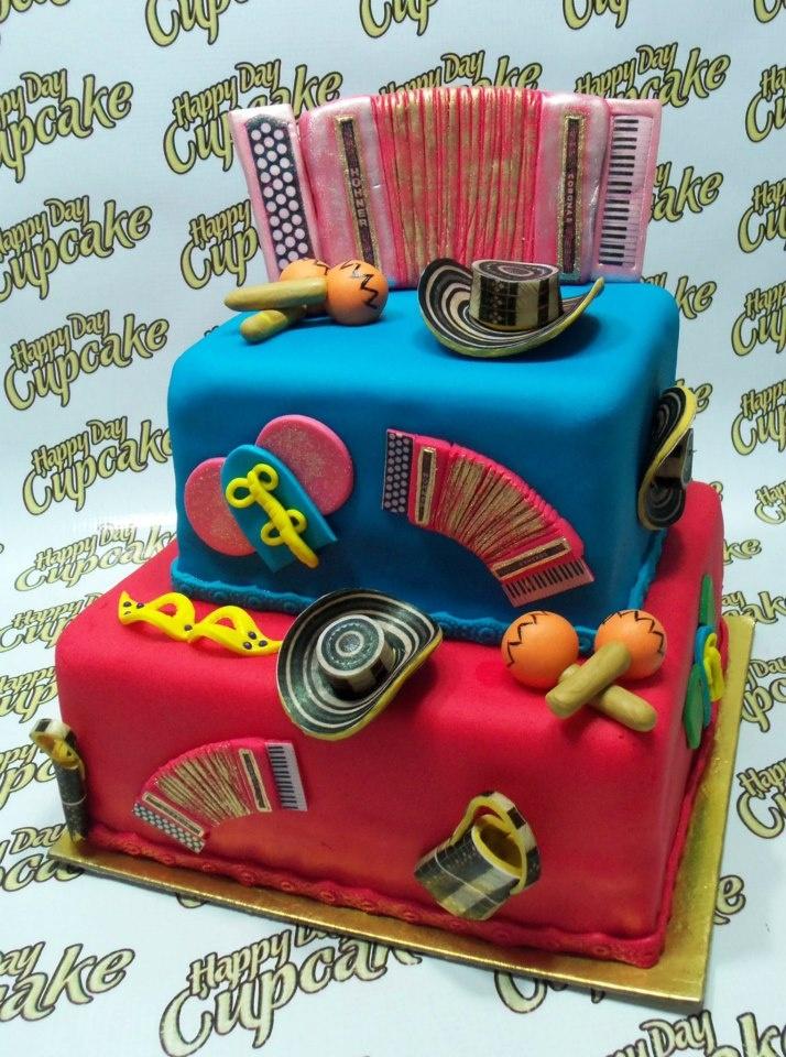 Torta Ponque Carnaval de Barranquilla 100% Comestible